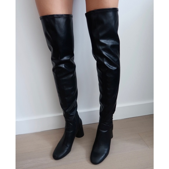 Zara Shoes - Thigh High Leather Boots 🖤✨
